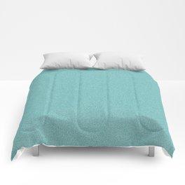 Dense Melange - White and Dark Cyan Comforters