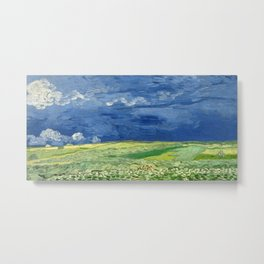 Vincent van Gogh - Wheatfield Under Thunderclouds Metal Print