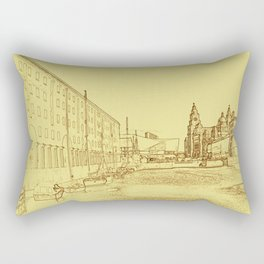 Albert Dock, Liverpool (Digital Art) Rectangular Pillow