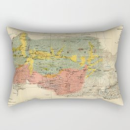 Vintage Geological Map of The Mount Everest Region (1921) Rectangular Pillow