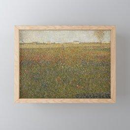 La Luzerne, Saint-Denis by Georges Seurat, 1885 Framed Mini Art Print