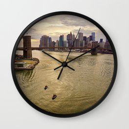 Lower Manhattan view Wall Clock