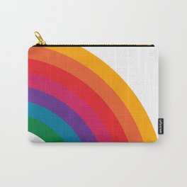 Retro Bright Rainbow - Right Side Carry-All Pouch