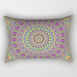 Acid Color Mandala Rectangular Pillow