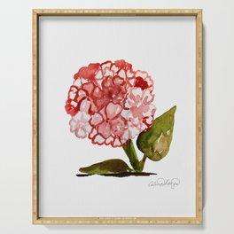 Pink Hydrangea Flower Serving Tray