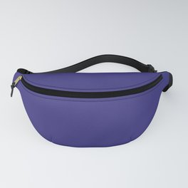 Solid Dark Blue Whale Color Fanny Pack