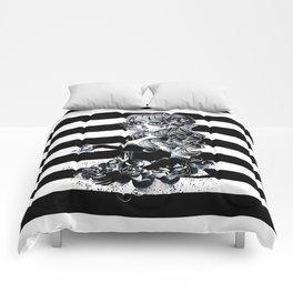 Black & White Sugar Skull Girl Comforters