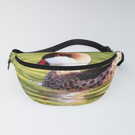 Watercolor White-cheeked Pintail Duck Fanny Pack
