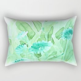 Soft Watercolor Floral Rectangular Pillow