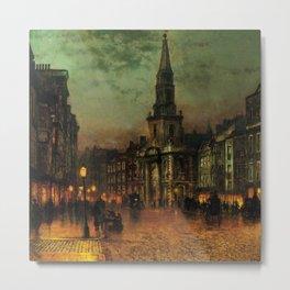 Classical Masterpiece 'Blackman Street, London' by John Atkinson Grimshaw Metal Print
