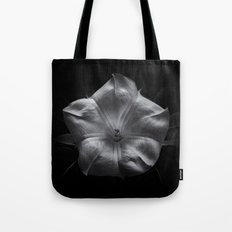 Backyard Flowers In Black And White 24 Tote Bag