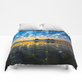 Huntington Beach Sunset   12/17/13   Comforters