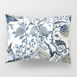 Blue vintage chinoiserie flora Pillow Sham