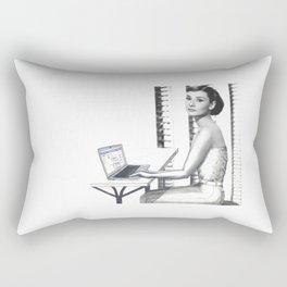 Even the Famous Facebook Stalk Rectangular Pillow