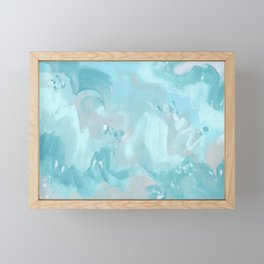 Abstract turquoise carnival Framed Mini Art Print