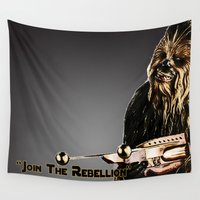 chewbacca Wall Tapestries featuring Chewbacca by KL Design Solutions