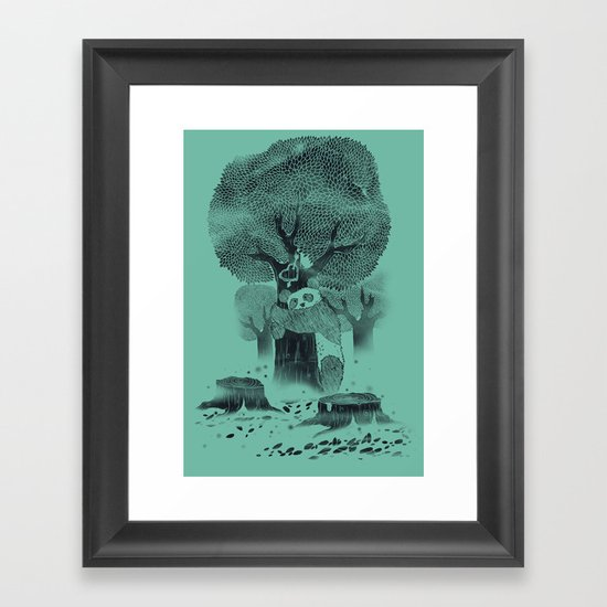 The Tree Hugger Framed Art Print