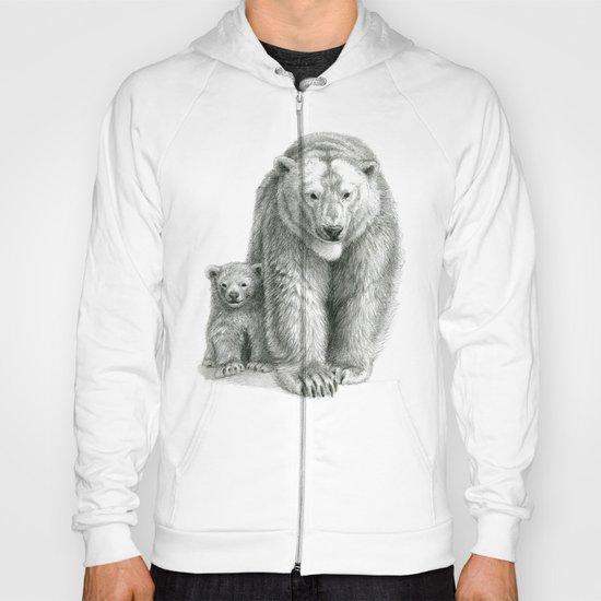 Polar bear and cub SK041 Hoody