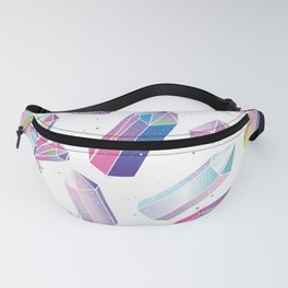 Purple Crystals Fanny Pack