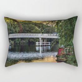 Above The Toll Bridge At Pangbourne Rectangular Pillow