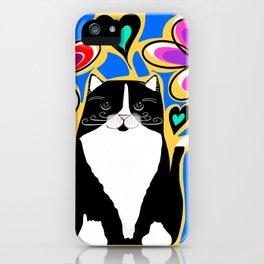 Tuxedo Cat Love iPhone Case