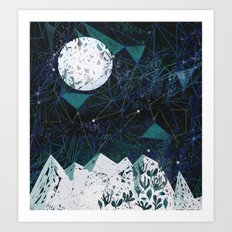 winter geometry Art Print