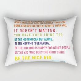 Be the nice kid #minimalism #colorful Rectangular Pillow