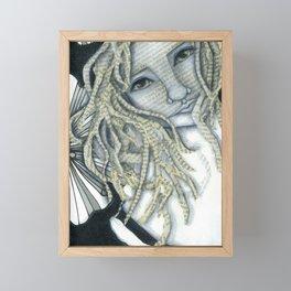Literally Woman Mixed Media Portrait Framed Mini Art Print