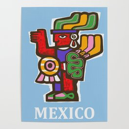 Mexico Aztec or Mayan Travel Poster