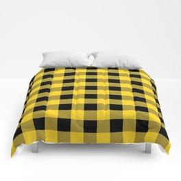 Yellow Buffalo Check Comforters