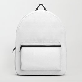 White Minimalist Solid Color Block Backpack