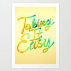 Taking It Easy // Typography Art Print