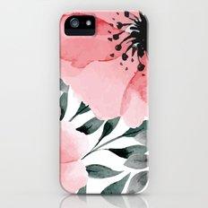 Big Watercolor Flowers Slim Case iPhone (5, 5s)