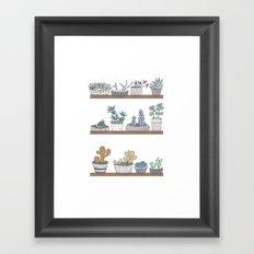 Quirky Succulents Framed Art Print