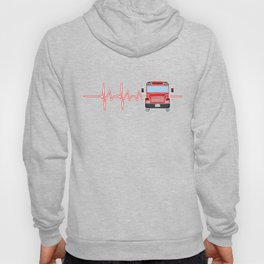 Bus Driver Heartbeat Driving Drivers Travel Car Lovers Gift Hoody