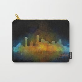 Dallas Texas City Skyline watercolor v04 Carry-All Pouch