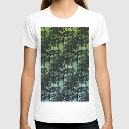 Leaf Shadows on Deck - green2turquoise T-shirt