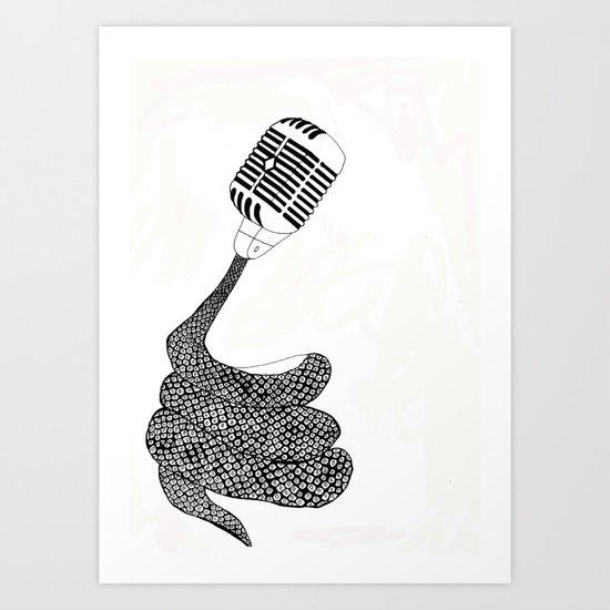 Snnnakee! Art Print
