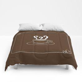 I Love Coffee Comforters