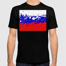 into the sky, Russia Mens Fitted Tee Black MEDIUM