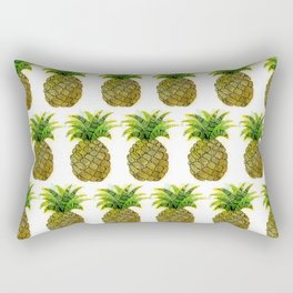 Watercolor Pineapple Rectangular Pillow
