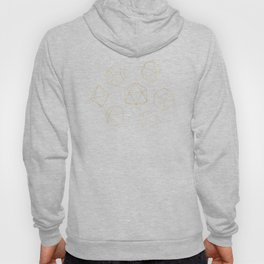 Outline of Dice in Gold + Brown Hoody