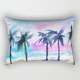 Summer vibes #3 || watercolor Rectangular Pillow