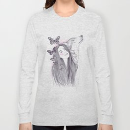 Wolf To The Moon Long Sleeve T-shirt