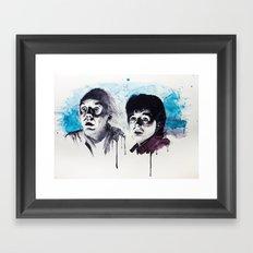 Doc & Marty Framed Art Print