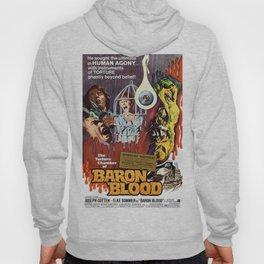 Baron Blood, vintage horror movie poster Hoody