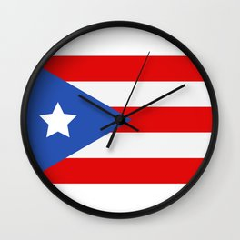 flag puerto rico Wall Clock