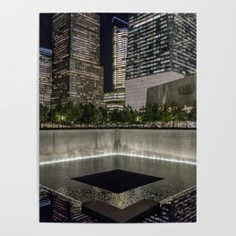 Footprint Fountain - NYC Poster