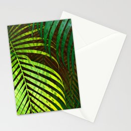 TROPICAL GREENERY LEAVES no8a Stationery Cards