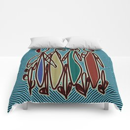 Tribal Elders Colorful Costumes Comforters
